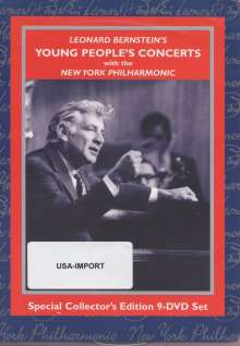 Leonard Bernstein - Young People's Concerts, 9 DVDs