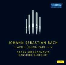 Johann Sebastian Bach (1685-1750): Clavier Übung Teile I-IV (Orgel-Arrangements), 6 CDs