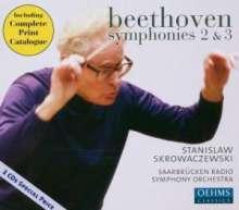 Ludwig van Beethoven (1770-1827): Symphonien Nr.2 & 3, 2 CDs