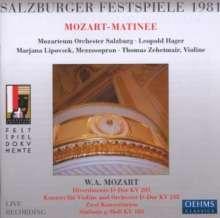 Salzburger Festspiele 1981 - Mozart-Matinee, CD