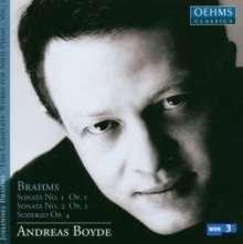 Johannes Brahms (1833-1897): Klaviersonaten Nr.1 & 2, CD