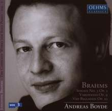 Johannes Brahms (1833-1897): Klaviersonate Nr.3 op.5, 2 CDs