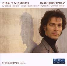 Johann Sebastian Bach (1685-1750): Transkriptionen für Klavier, CD