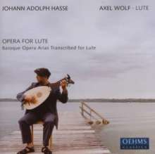 Johann Adolph Hasse (1699-1783): Arien aus Barockopern (arrangiert für Laute), CD
