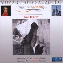 Wolfgang Amadeus Mozart (1756-1791): Symphonien Nr.36 & 41, CD