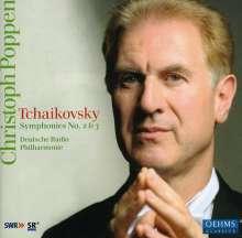 Peter Iljitsch Tschaikowsky (1840-1893): Symphonien Nr.2 & 3, CD