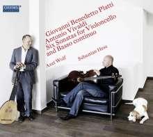 Giovanni Benedetto Platti (1697-1763): Sonaten für Cello & Laute WD 698 Nr.1,2,4, CD