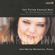 "Carl Philipp Emanuel Bach (1714-1788): Cembalosonaten Wq.49 Nr.1-6 ""Württembergische"", CD"