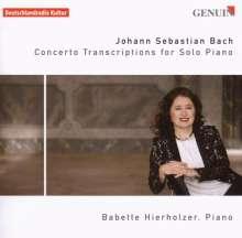 Johann Sebastian Bach (1685-1750): Konzert-Transkriptionen für Klavier, CD