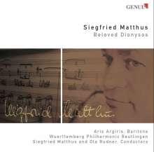 Siegfried Matthus (geb. 1934): Ariadne - Dithyrambos für Bariton & Orchester, CD