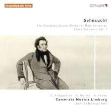 """Franz Schubert (1797-1828): Sämtliche Chorwerke für Männerchor Vol.1 """"Sehnsucht"""", CD"""