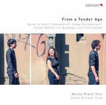 Monte Piano Trio - From a Tender Age, CD