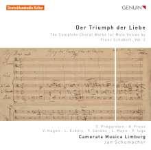 """Franz Schubert (1797-1828): Sämtliche Chorwerke für Männerchor Vol.2 """"Der Triumph der Liebe"""", CD"""