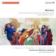 """Franz Schubert (1797-1828): Sämtliche Chorwerke für Männerchor Vol.3 """"Wehmut"""", CD"""