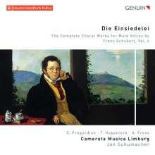 """Franz Schubert (1797-1828): Sämtliche Chorwerke für Männerchor Vol.4 """"Die Einsiedelei"""", CD"""