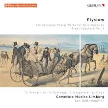 """Franz Schubert (1797-1828): Sämtliche Chorwerke für Männerchor Vol.5 """"Elysium"""", CD"""