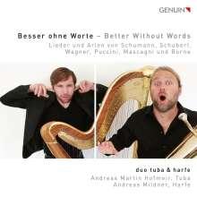 """Andreas Martin Hofmeir - Werke für Tuba & Harfe (""""Besser ohne Worte - Better without Words""""), CD"""