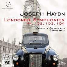 Joseph Haydn (1732-1809): Symphonien Nr.102-104, 1 Super Audio CD und 1 CD