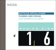Mathias Spahlinger (geb. 1944): Farben der Frühe für 7 Klaviere, Super Audio CD