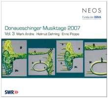 Donaueschinger Musiktage 2007 Vol.3, SACD