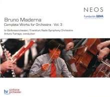 Bruno Maderna (1920-1973): Orchesterwerke Vol.3, SACD