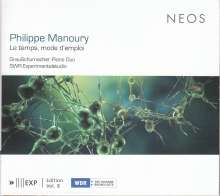 Philippe Manoury (geb. 1952): Le temps, mode d'emploi für 2 Klaviere & Elektronik, SACD
