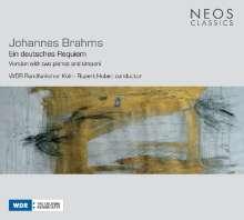 Johannes Brahms (1833-1897): Ein Deutsches Requiem op.45 (für Chor,2 Klaviere,Pauken), CD