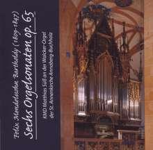 Felix Mendelssohn Bartholdy (1809-1847): Orgelsonaten op.65 Nr.1-6, CD