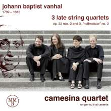 Johann Baptist (Jan Krtitel) Vanhal (1739-1813): 3 Späte Streichquartette, CD