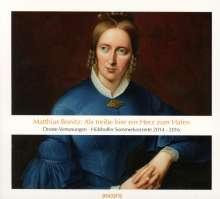 """Matthias Bonitz (geb. 1951): Lieder """"Als treibe hier ein Herz zum Hafen"""", CD"""