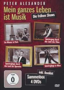 Peter Alexander - Mein ganzes Leben ist Musik, 4 DVDs