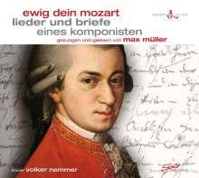 """Wolfgang Amadeus Mozart (1756-1791): Lieder & Briefe eines Komponisten - """"Ewig dein Mozart"""", CD"""