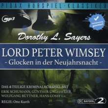 Dorothy L. Sayers: Lord Peter Wimsey: Glocken in der Neujahrsnacht, MP3-CD