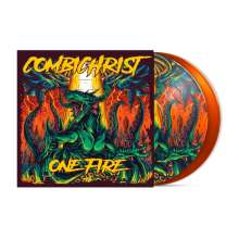 Combichrist: One Fire (Earthling-Edition) (Limited-Edition) (Orangy Vinyl + Picture Vinyl), 2 LPs