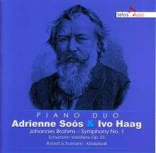Johannes Brahms (1833-1897): Symphonie Nr.1 (für Klavier 4-händig), CD