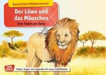 Monika Lefin-Kirsch: Der Löwe und das Mäuschen. Eine Fabel von Äsop. Kamishibai Bildkartenset, Diverse