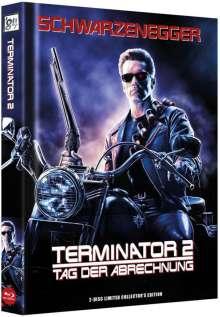 Terminator 2: Tag der Abrechnung (3D  & 2D Blu-ray im wattierten Mediabook), 2 Blu-ray Discs