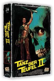 Tanz der Teufel 2 (Limited Collector's Edition im VHS-Design) (Ultra HD Blu-ray & Blu-ray), 1 Ultra HD Blu-ray und 2 Blu-ray Discs
