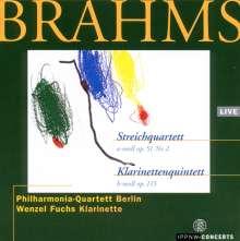 Johannes Brahms (1833-1897): Streichquartett Nr.2, CD