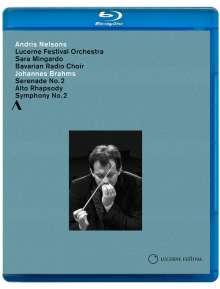 Johannes Brahms (1833-1897): Symphonie Nr.2, Blu-ray Disc