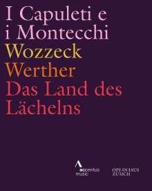 Vier Opern aus dem Opernhaus Zürich, 4 Blu-ray Discs