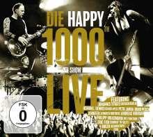 Die Happy: Die Happy: 1000th Show Live. CD + DVD, 1 CD und 1 DVD