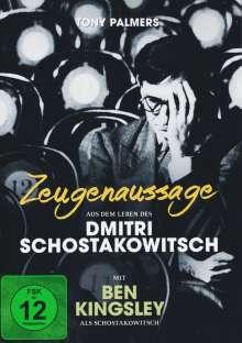 Zeugenaussage - Aus dem Leben des Dmitri Schostakowitsch, DVD
