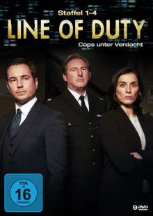 Line of Duty Staffel 1-4, 9 DVDs