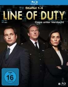 Line of Duty Staffel 1-4 (Blu-ray), 8 Blu-ray Discs