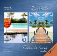 Ronny Matthes: Chillout & Lounge Vol. 3 & 4 - Gemafreie Hintergrundmusik für Bars, Hotels und zur Videovertonung (Jazz, Chillout, Ambient & Piano Lounge), 2 CDs