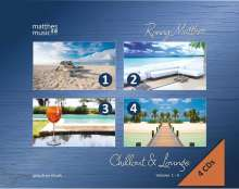 Ronny Matthes: Chillout & Lounge Vol. 1-4: Gemafreie Hintergrundmusik (Jazz, Chillout, Ambient & Piano Lounge), 4 CDs
