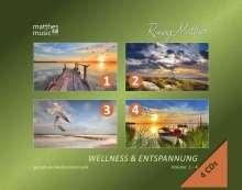 Ronny Matthes: Wellness & Entspannung (Vol. 1-4) - Gemafreie christliche Entspannungsmusik (Einschlafhilfe, Meditation & Tiefenentspannung), 4 CDs