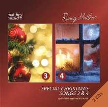 Ronny Matthes: Special Christmas Songs 3 & 4: Gemafreie Weihnachtsmusik (gesungen) - (Die schönsten deutschen & englischen Weihnachtslieder), 2 CDs
