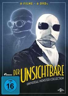 Der Unsichtbare (Universal Monster Collection), 6 DVDs